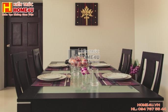 Mẫu nhà biệt thự nhà vườn 2 tầng đẹp và sang trọng BTM2T36 - Phòng ăn